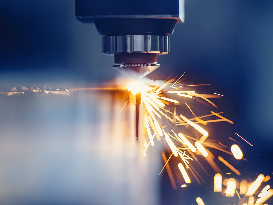 Engineering sparks from machine cutting