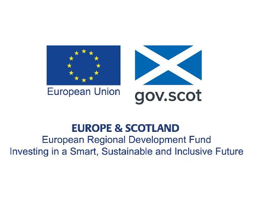European Regional Development Fund logo displayed in carousel