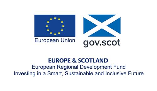 European Regional Development Fund logo displayed in website footer